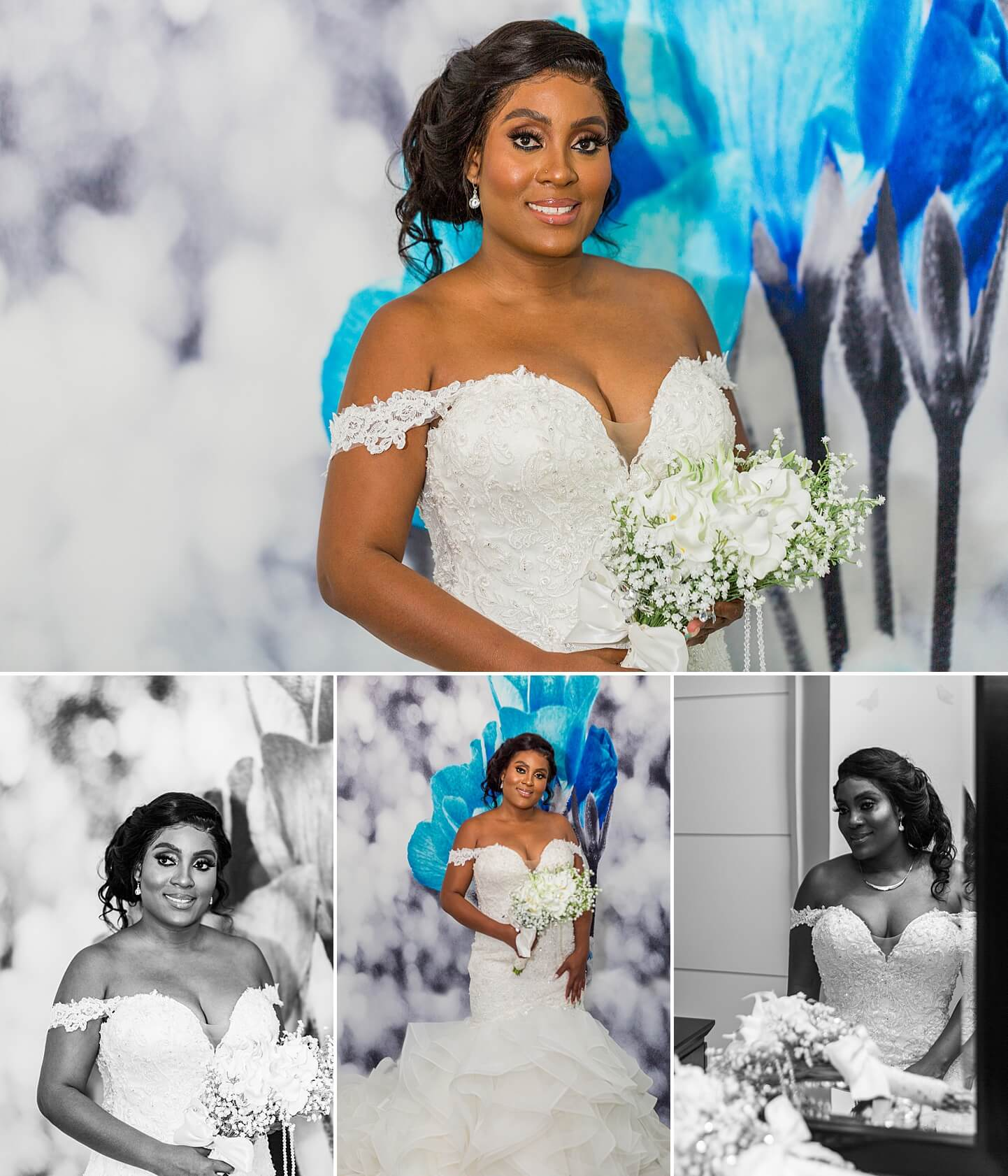 Photo collage of bride for Fort Lauderdale Wedding by White House Wedding Photography