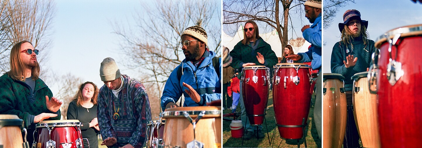 Photo of men playing drums in Washington DC by Wedding Photographer Antonio Crutchley | White House Wedding Photography