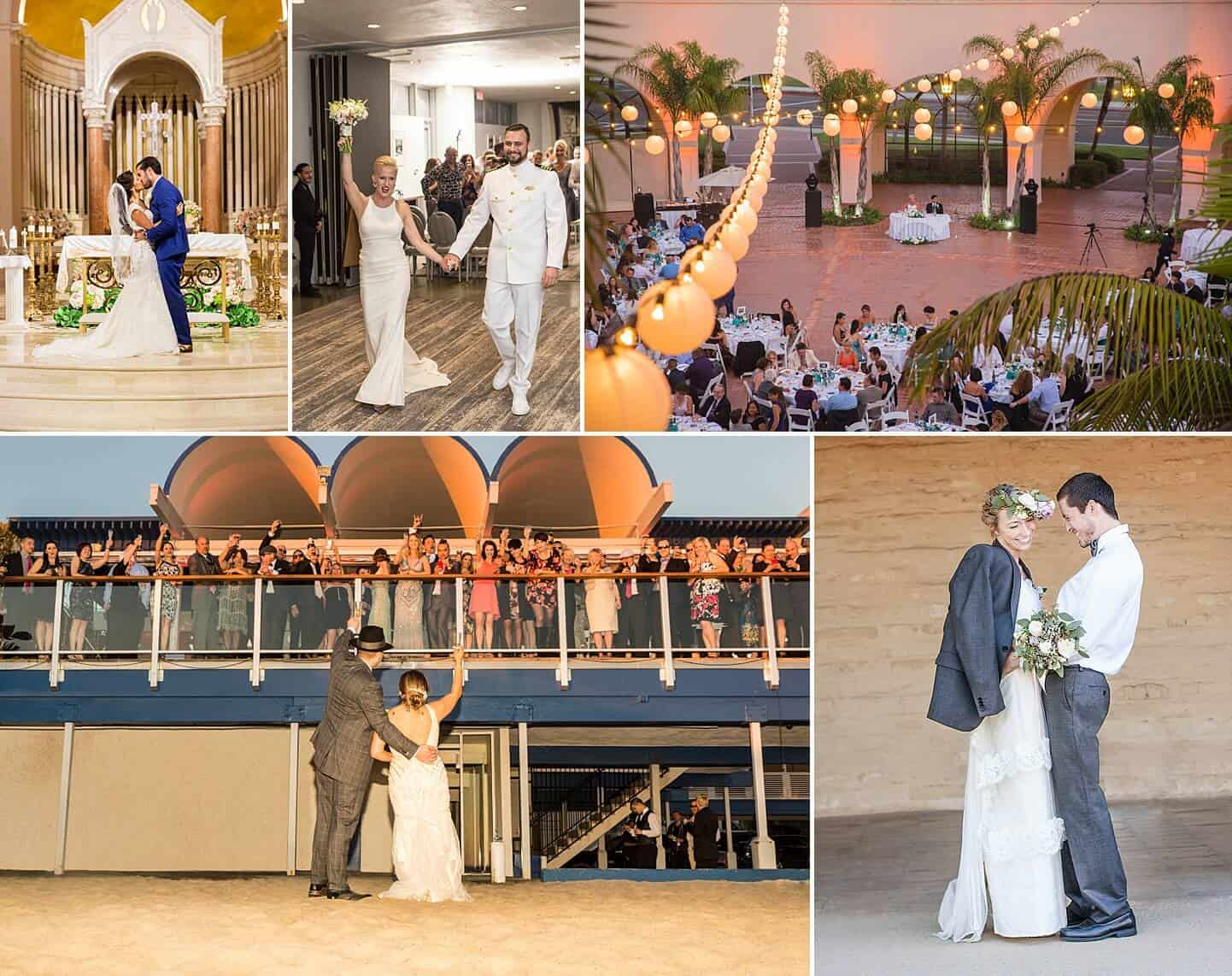 Photo collage of photojournalism wedding photography style by White House Wedding Photography